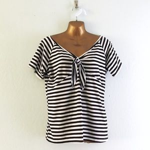 Tops - Black and white striped top